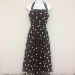 XOXO Collection Junior 3 Sleeveless Polkadot Dress